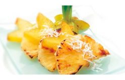 Grilled pineapple with star fruit